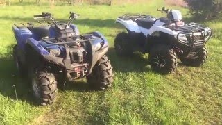 10. 2016 Honda Rubicon Vs 2008 Yamaha Grizzly 700