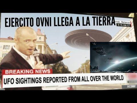 VIDEO DE EJERCITO DE OVNIS EXTRATERRESTRES LLEGANDO A LA TIERRA    YA ESTAN AQUI (видео)