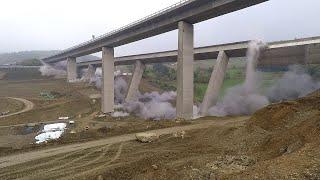 12300 ton wiaduktu runęło od 61 kg materiału wybuchowego. Co za moc.