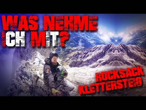 Klettersteig Rucksack packen - Königsjodler Hüttentour Inhalt Übernachtung - Overnight Pack Kit