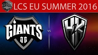 Giants vs H2k, game 2