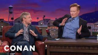 Video Martin Freeman Makes Conan Do His Terrible British Accent  - CONAN on TBS MP3, 3GP, MP4, WEBM, AVI, FLV Mei 2019