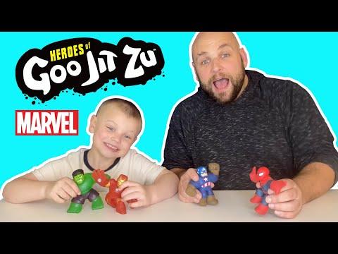 Pretend Time With Marvel HEROES OF GOO JIT ZU (Squishy!)