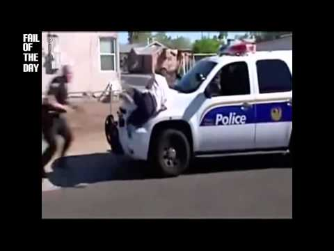 video que muestra como un criminal intenta escapar de la policia