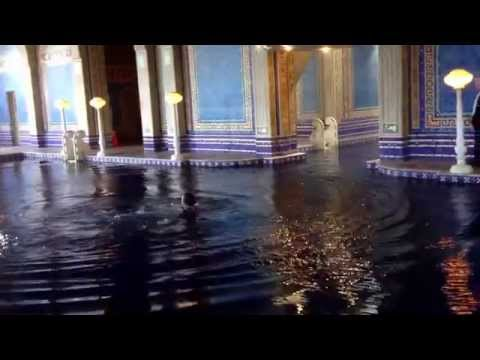 Crazy dude jumps into Roman pool at Hearst Castle 04/18/14