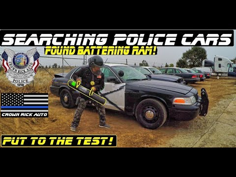 Searching Police Cars Found Battering Ram! Ford Crown Victoria Interceptor