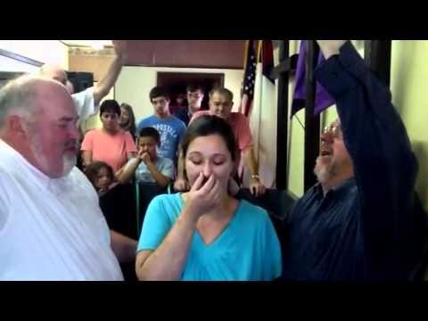 Paul Begley Baptizing Heather Nudd In Knox, Indiana