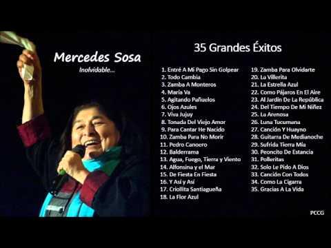Mercedes Sosa - 35 Grandes Exitos Enganchados - Mix de Mercedes Sosa - Folklore Argentino