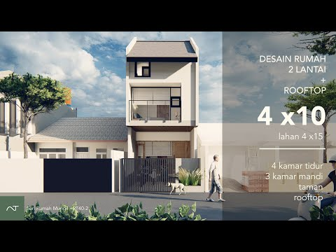 Bagaimana desain rumah 4x10  punya 4 kamar tidur & 3 kamar mandi? (4x10 sqm 2storey house)