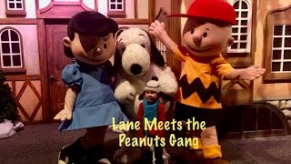 For Christmas 2016 Lane got to do the Snoopy dance with Snoopy himself along with Lucy and Charlie Brown. Full meet and greet.
