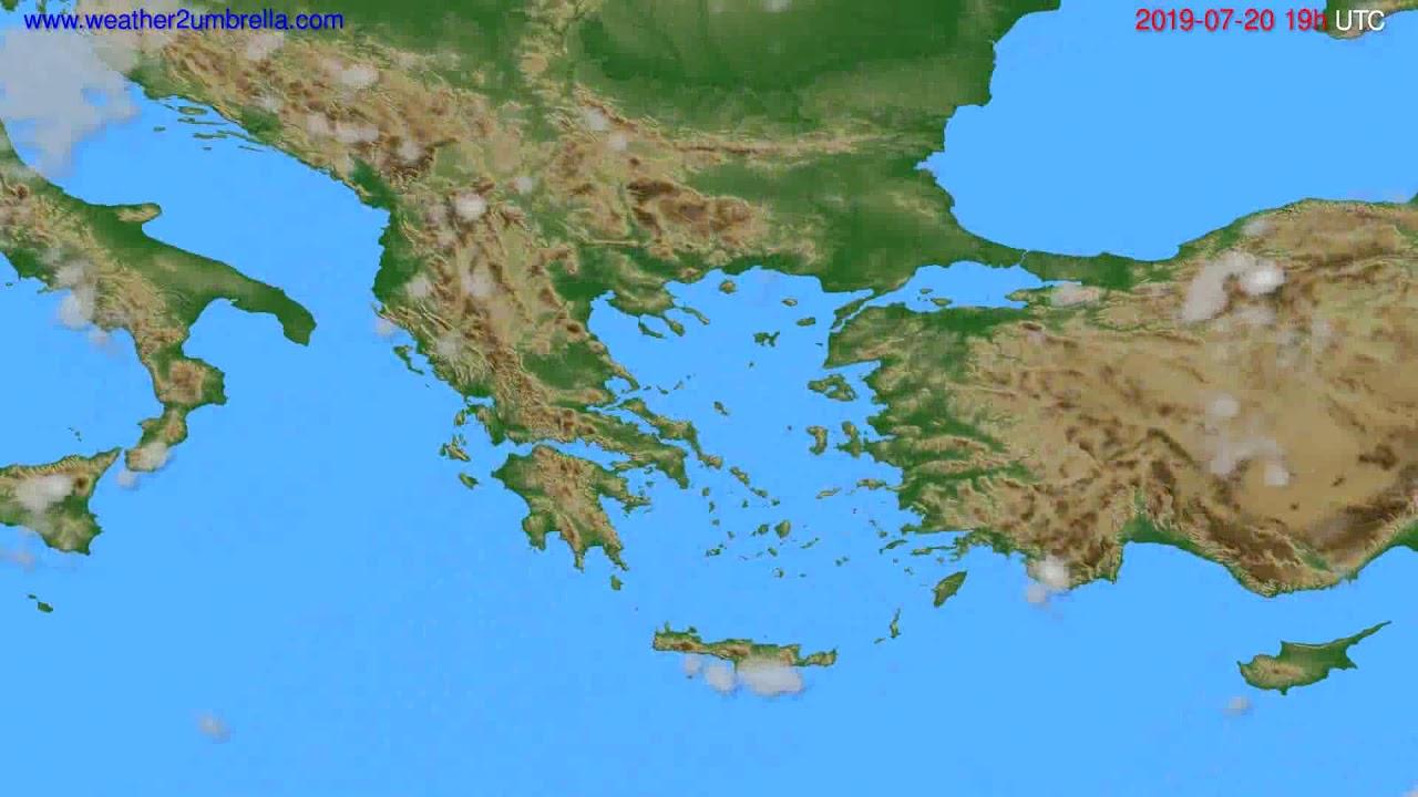 Cloud forecast Greece // modelrun: 12h UTC 2019-07-17
