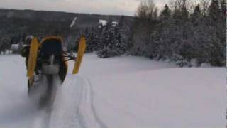 4. Ski Doo REV MXZ X-RS 800 Catwalk Fly-By