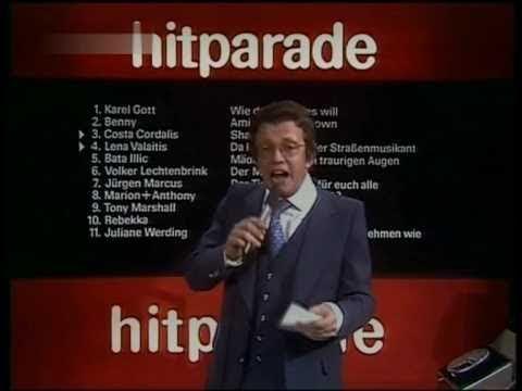 Dieter Thomas Heck im Abspann der ZDF- Hitparade 1976