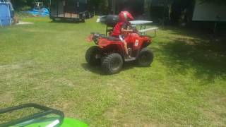 9. 4 YEAR OLD ON 2017 ARCTIC CAT 90