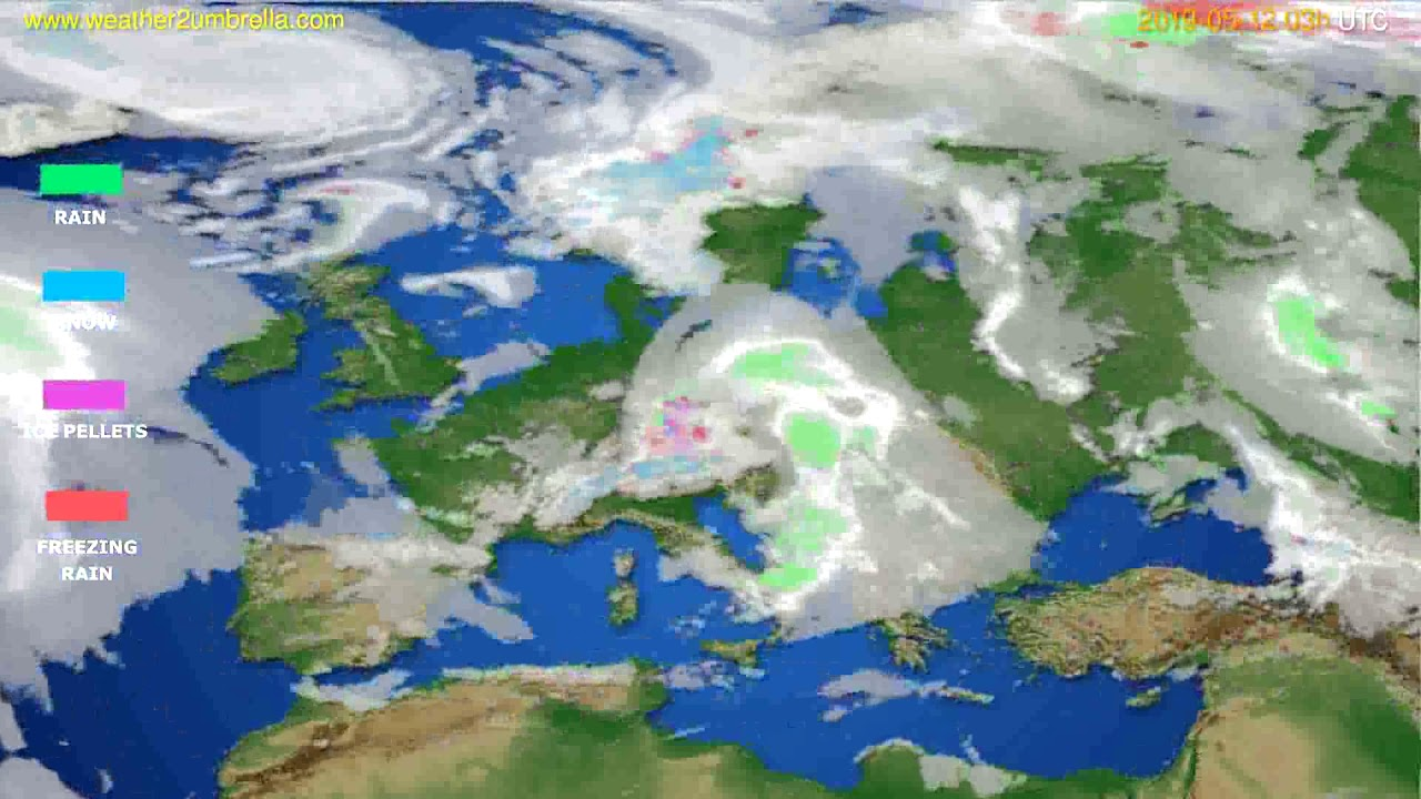 Precipitation forecast Europe // modelrun: 00h UTC 2019-05-09