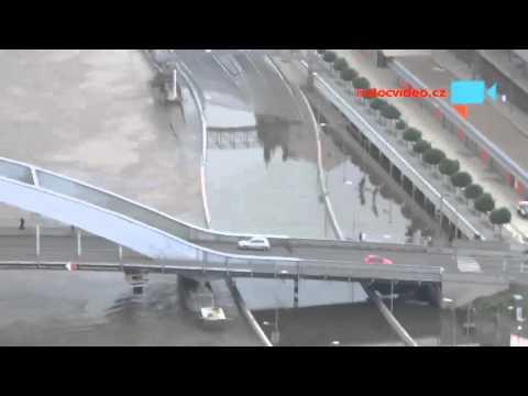 Povodeň Ústí nad Labem 10.6.2013 čas 9:30h 4 dny po kulminaci