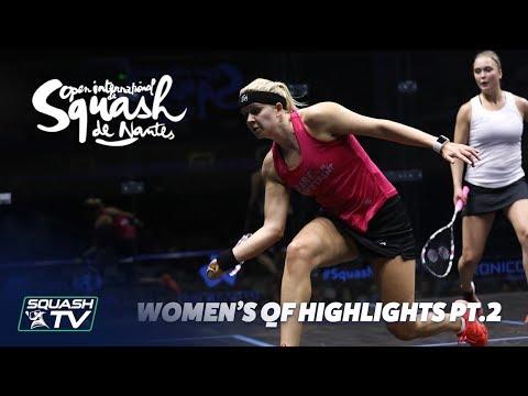 Squash: Women's QF Roundup Pt.2 - Squash de Nantes 2018