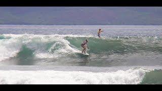 Honolua Surf Co / Maui Jim / Starboard teammates & maui girl/boy lara claydon & zane schweitzer share a beautiful set @ kimos 40th longboard contest in memory of uncle john severson. No Leash Single Fin 9'0 min. old school traditional longboarding hawaiian style outer island rules. Honolua Surf Co. / Maui Jim / Starboard / Black Project Paddles Fins Bark Boards Twin Crow Surfboards surfing surfer longboarder logger logs http://www.facebook.com/PureDigitalMedia http://www.instagram.com/PureDigitalMediahttps://www.linkedin.com/vsearch/f?adv=true&trk=federated_advs