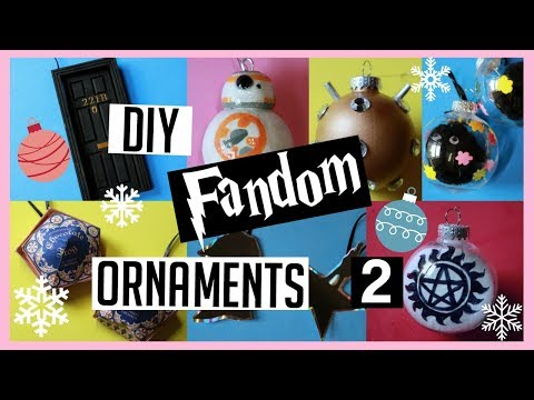 8 MORE DIY Fandom Christmas Ornaments! (part2)
