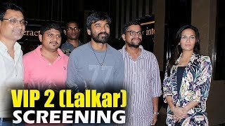 Dhanush, Soundarya at VIP 2 Special Screening in Mumbai.Click this below link and subscribe to our channel to get all updates on Bollywood Movies, and your favorite Bollywood actresses and actors.http://goo.gl/cfijvC
