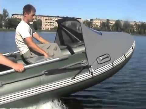 носовой тент на лодку пвх с таргой