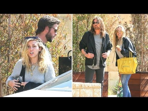 Miley Cyrus And Liam Hemsworth Celebrate Father's Day With Tish And Billy Ray