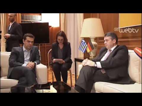 Συνάντηση του Πρωθυπουργού Αλέξη Τσίπρα με τον Γερμανό Αντικαγκελάριο κ. Ζ. Γκάμπριελ (EL/DE)