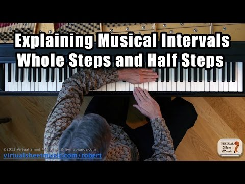 Explaining Music Intervals - Whole and Half Steps