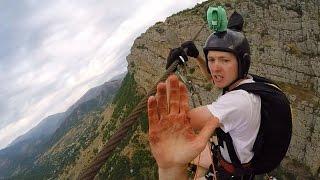 Video Friday Freakout: Super Sketchy Zipline BASE Jump, Almost Loses Fingers! MP3, 3GP, MP4, WEBM, AVI, FLV Oktober 2017