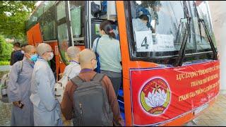 Tăng Ni, Phật tử cùng tình nguyện viên các tôn giáo đến các bệnh viện dã chiến hỗ trợ F0