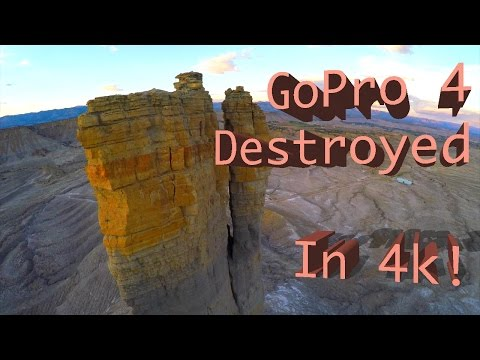 Camera drone attempts to return home... through a cliff