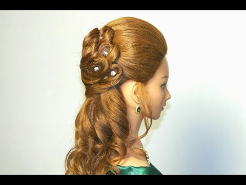 Wedding prom hairstyles for long hair. Bridal hairstyles