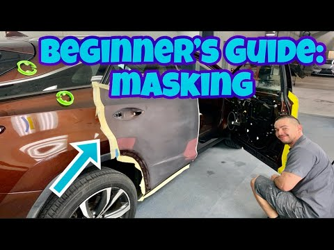 Car Painting: How to Mask a Car for Paint like a Pro!