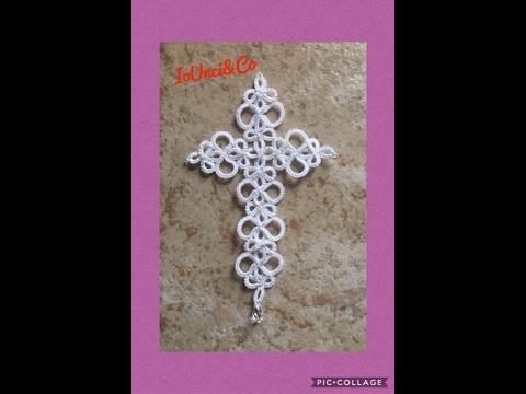 elegante croce realizzata al chiacchierino