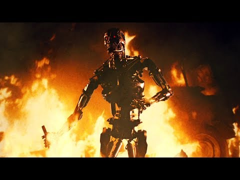 Sarah Connor and Kyle Reese vs T-800 Endoskeleton | The Terminator [Open Matte, Remastered]