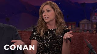 Jenna Fischer Used To Live Behind A Sex Shop  - CONAN on TBS