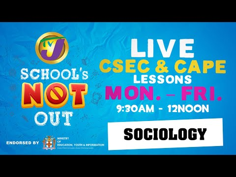 TVJ Schools Not Out: CAPE Sociology with Dr. Orville W Beckford  - March 23 2020