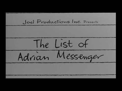 The List of Adrian Messenger 1963 title sequence