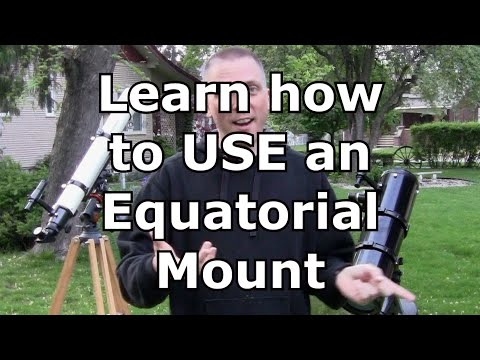 How to use an equatorial mount for amateur telescopes (видео)