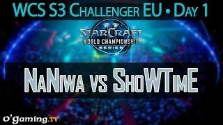 NaNiwa vs ShoWTimE - WCS 2015 Season 3 - EU Challenger - Day 1