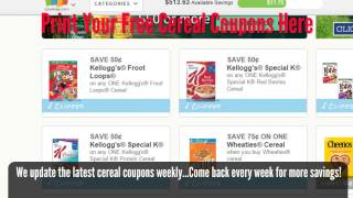 best printable cereal coupons