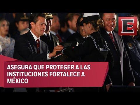 Peña Nieto reconoce a las Fuerzas Armadas por su labor durante los sismos