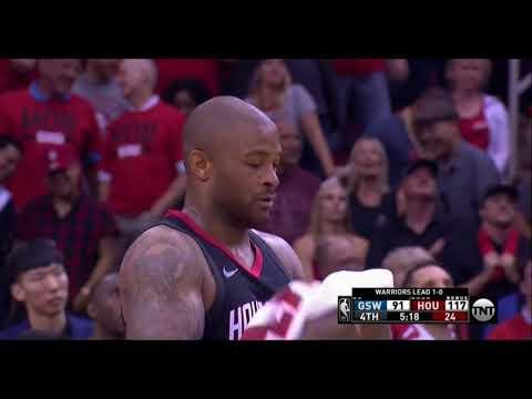 Draymond Green Pushes Trevor Ariza Golden State Warriors Vs Houston Rockets Playoffs Game 2