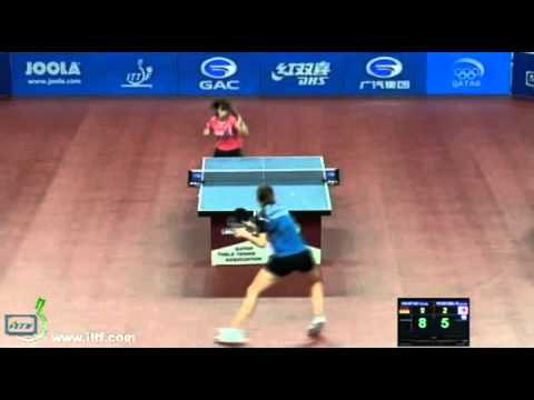 ishikawa - Table Tennis Tennistavolo 卓球 Tischtennis Bordtennis Kasumi Ishikawa Irene Ivancan GAC GROUP 2012 ITTF World Tour, Qatar Open, ,07 Feb 2012 - 11 Feb 2012, Doh...