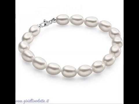 Bracciale di Perle 6,5/7 Chiusura in Oro Ambrosia Gioielli ABP002