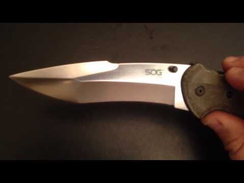 SOG KIKU FOLDER... Another unknown Epic Knife from SOG...