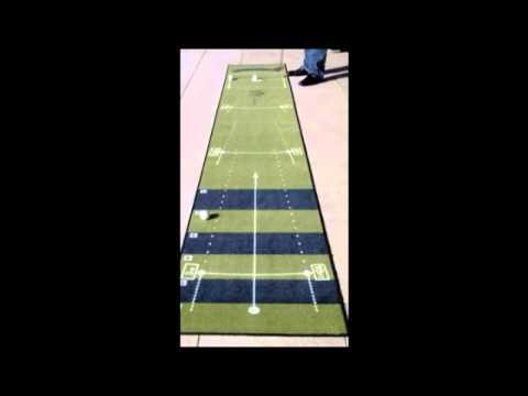 The Short Game Golf Tapis de putting entrainement Paceyourputt Classic  breveté part 2