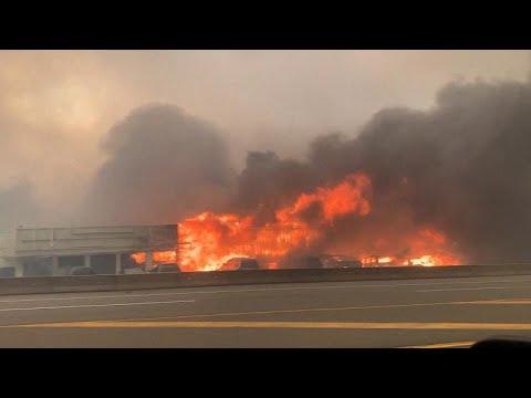 Fast 50° Celsius in Kanada: Ganzer Ort in Flammen