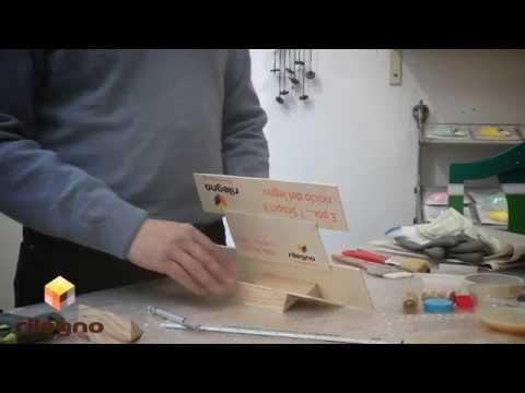 TUTORIAL #legnoerilegno n.1: costruire un supporto per tablet | Video Rilegno