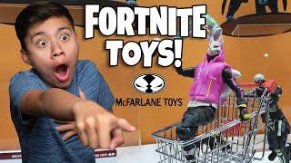 AWESOME FORTNITE TOYS!!! Cup Head, Hello Neighbor, Stranger Things, My Hero Academia-McFarlane Toys!